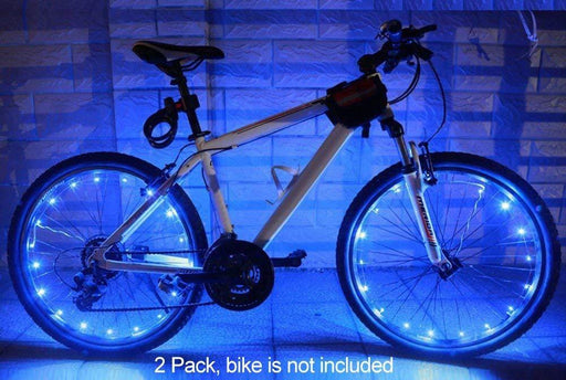 MAGINOVO 2 Pack Led Bike Wheel Light | Waterproof Bicycle Tire Light | Safety Battery Spoke Lights |  Ride at Night - iregalijoy.com
