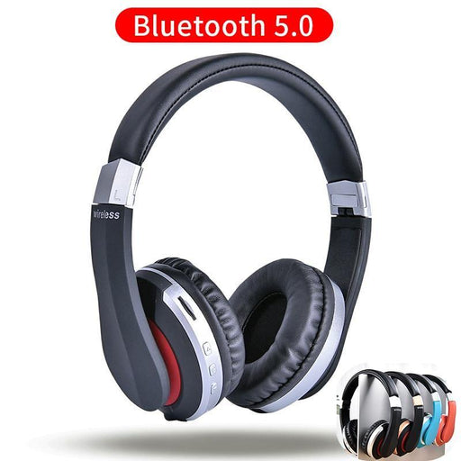 MH7 Wireless Headphones Bluetooth Headset Foldable Stereo Gaming Earphones With Microphone Support TF Card For IPad Mobile Phone - iregali