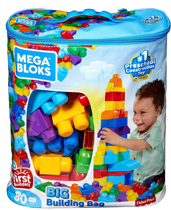 Mega Bloks 80-Piece Big Building Bag, Classic - iregalijoy.com