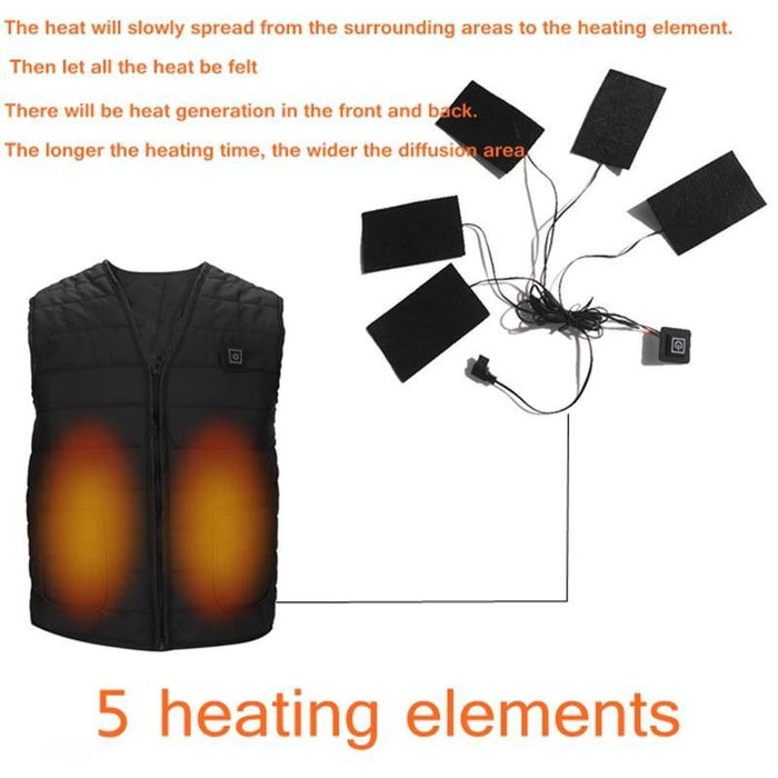 Men Autumn winter Smart heating Cotton Vest USB Infrared Electric Heating Vest Women Outdoor Flexible Thermal Winter Warm Jacket - iregalijoy.com