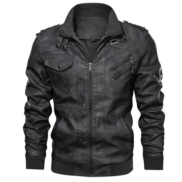 Mountainskin New Men's Leather Jackets Autumn Casual Motorcycle PU Jacket Biker Leather Coats Brand Clothing EU Size SA722 - iregalijoy.com