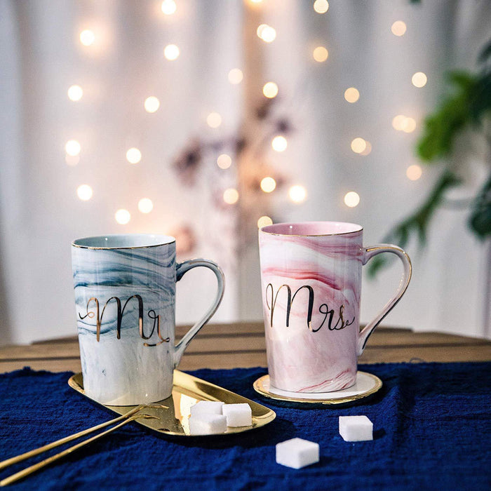 Mr and Mrs Coffee Mugs - Wedding Gift - Mr and Mrs Mugs Set - for Bride and Groom - iregalijoy.com