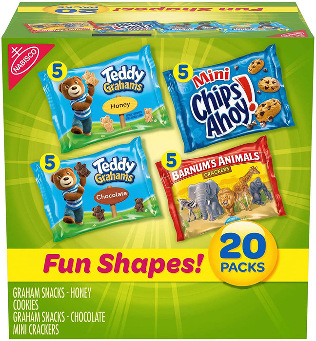 Nabisco Fun Shapes Cookie & Cracker Mix, Variety Pack with Teddy Grahams, Chips Ahoy! - iregalijoy.com