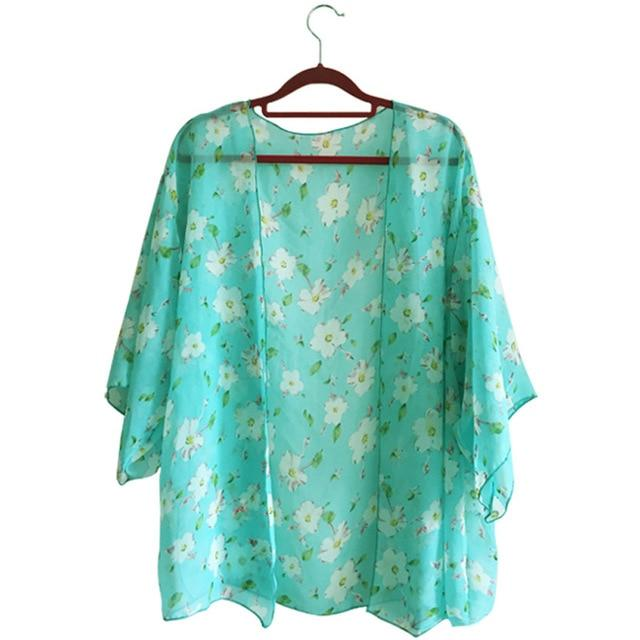 New Arrivals 2019 Women Blouses Plus Sizes Floral  Cardigan Women Tops Chiffon Batwing Blouse Kimono Cardigan Chemise Femme XXXL - iregalijoy.com