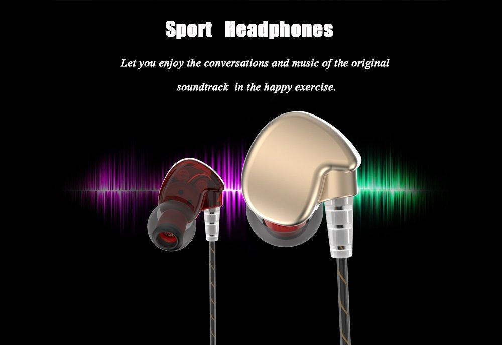 Noise Isolation Workout Music Earbuds,Running Sport Earphones with MIC( - iregalijoy.com
