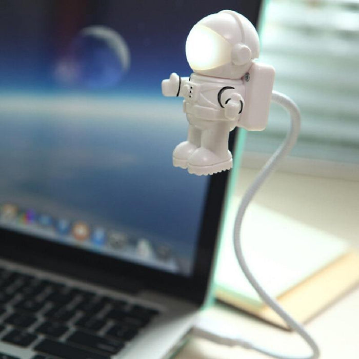 Novelty USB Astronaut Spaceman LED Adjustable Night Light for Desktop Laptop PC Lamp Creative Flexible USB LED Lamp - iregalijoy.com