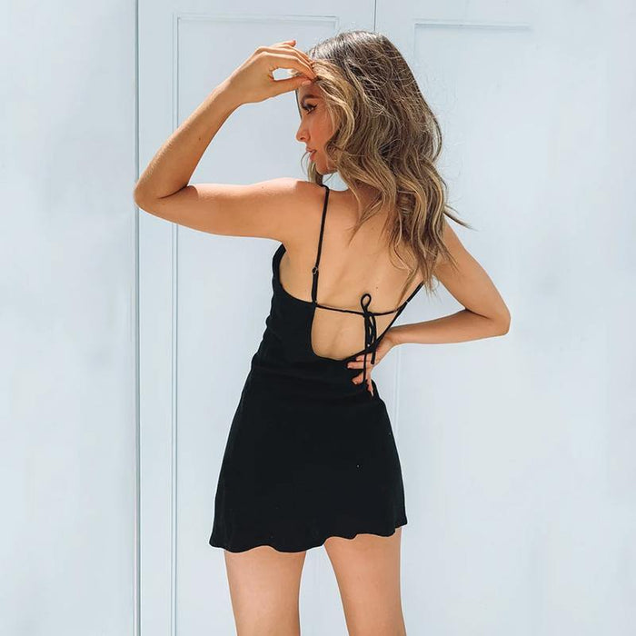 Off Shoulder Strapless Sexy Women Dress Sleeveless  Bodycon Dress Backless Casual Summer Party Dress Women Dress Black - iregalijoy.com
