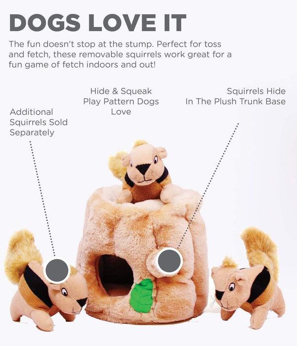 Outward Hound Hide-A-Squirrel Puzzle Plush Squeaking Toys Dogs - iregalijoy.com