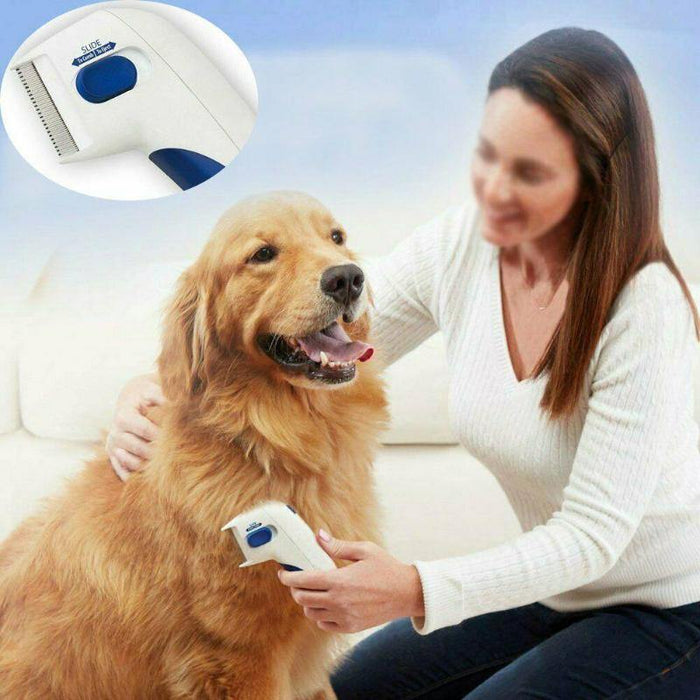 Pet Flea Lice Cleaner Comb Electric Dog Flea Cleaning Brush Anti Flea Dog Comb Electronic Lice Comb for Cats Dogs Pet Supplies - iregalijoy.com