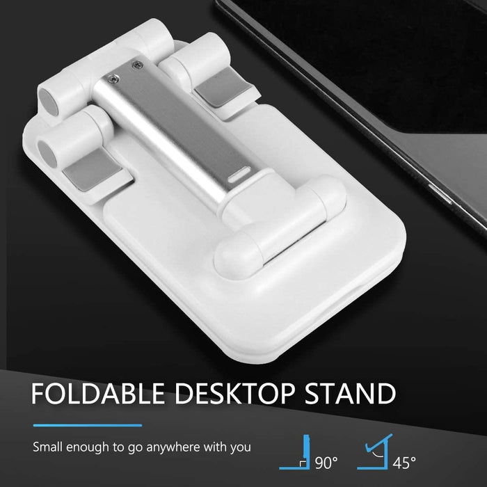 Phone, tablet Stand Cell Phone Stand Angle Height Adjustable Stable Portable Desktop Stand - iregalijoy.com