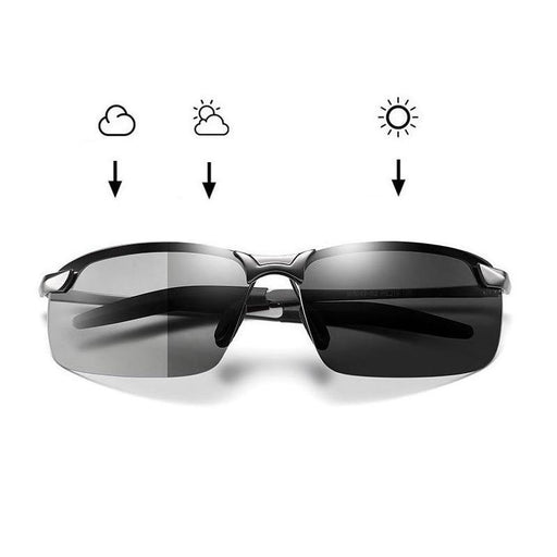 Photochromic Sunglasses Men Polarized Driving Chameleon Glasses Male Change Color Sun Glasses Day Night Vision Driver's Eyewear - iregalijoy.com