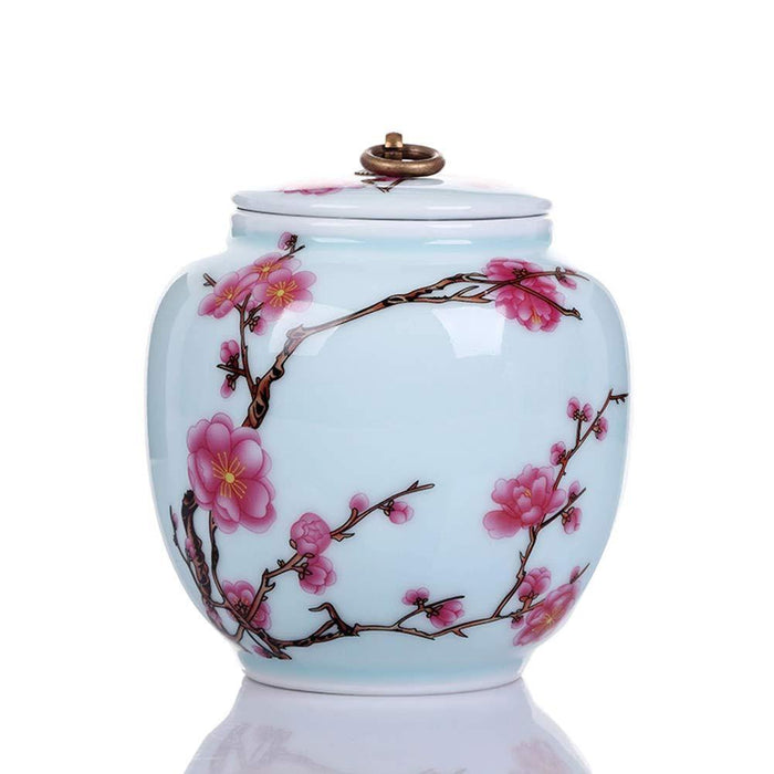 Plum Pattern Medium Cremation Urn by Funeral Urn for Dog Ashes/cat Ashes and Pet Urns - iregalijoy.com