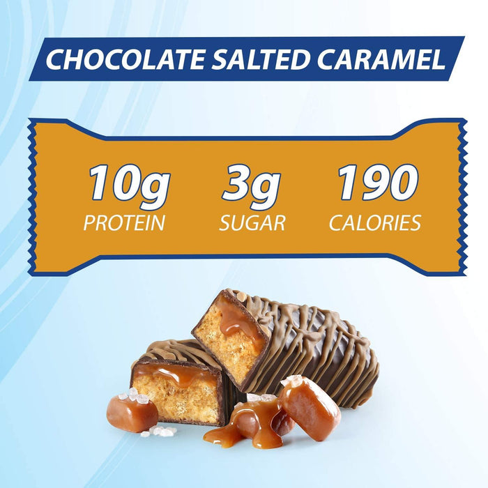 Pure Protein Bars, High Protein, Nutritious Snacks to Support Energy, Low Sugar, Gluten Free, Chocolate Salted Caramel, 1.76oz, 12 Pack - iregali