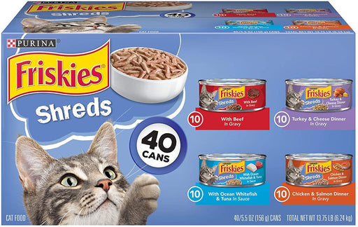 Purina Friskies Canned Wet Cat Food 40 ct. Variety Packs - iregalijoy.com