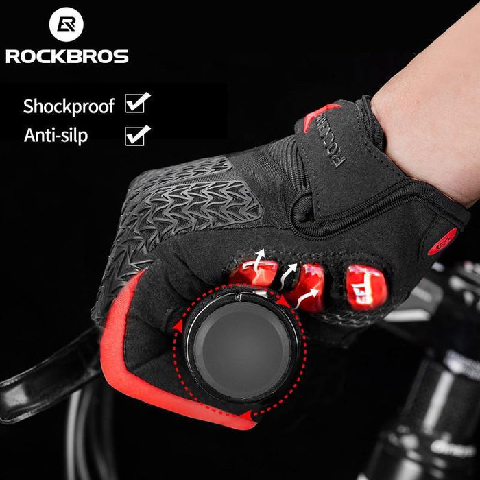 ROCKBROS Windproof Cycling Gloves Touch Screen Riding MTB Bike Bicycle Gloves Thermal Warm Motorcycle Winter Autumn Bike Gloves - iregali