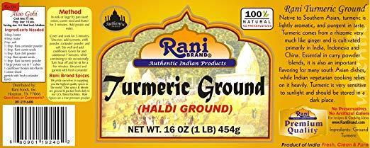 Rani Natural Turmeric (Haldi) Root Powder Spice, (High Curcumin Content) 16oz (454g) 1lb ~ 100% Pure, Salt Free | Vegan | Gluten Free Ingredients |... - iregalijoy.com