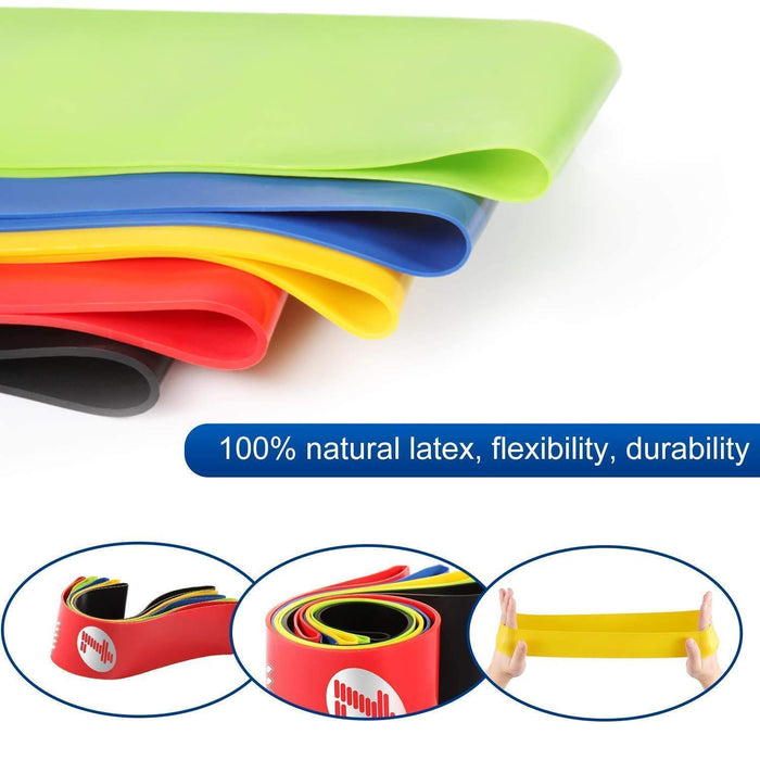 Resistance Bands, Exercise Bands, Set of 5 Exercise Loops Workout Bands  Physical Therapy - iregalijoy.com