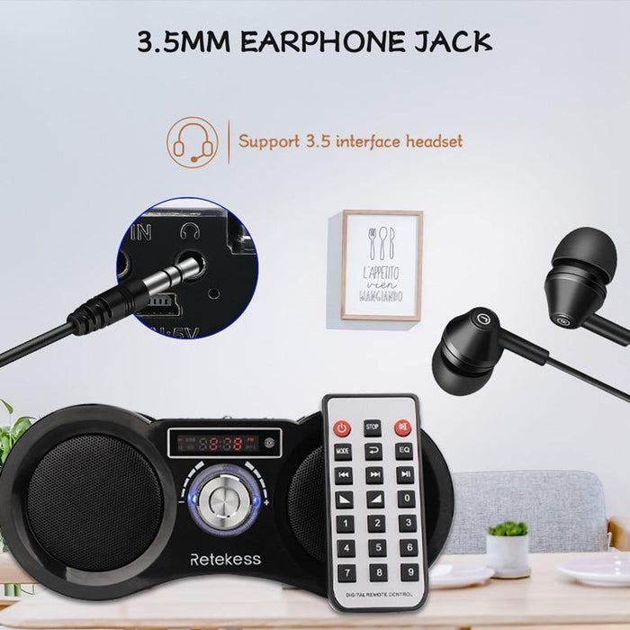 FM Radio Stereo Digital Radio Receiver Speaker MP3 Music Player USB Disk TF Card Camouflage + Remote Control - iregalijoy.com