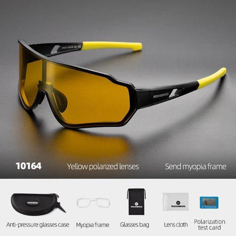 Polarized Cycling Sun Glasses Outdoor Sports Bicycle Glasses Men Women Bike Sunglasses 29g Eyewear 5/3 Lens - iregali
