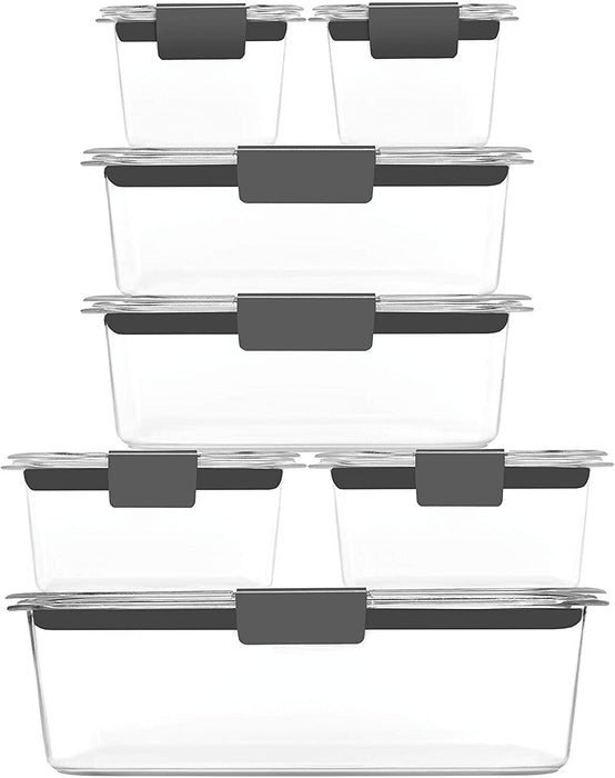 Rubbermaid 2108377 Brilliance Storage 14-Piece Plastic Lids | BPA Free, Leak Proof Food Container, Clear - iregali
