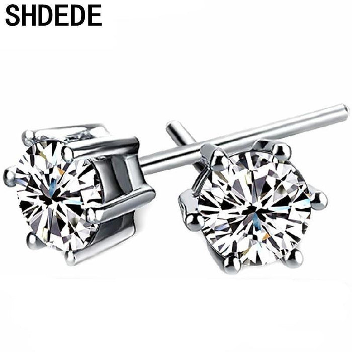 SHDEDE CZ Crystal from Swarovski Stud Earrings For Women Lover's Xmas Gift Anniversary Fashion Jewelry Accessories +*WHB102 - iregalijoy.com