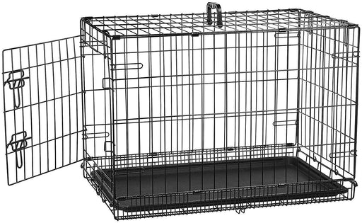 Single Door & Double Door Folding Metal Dog Crate - iregalijoy.com