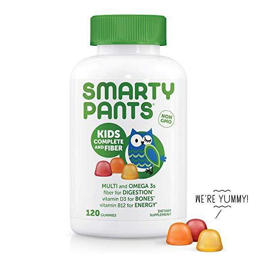 SmartyPants Kids Complete and Fiber Gummy Vitamins (30 Day Supply) - iregalijoy.com