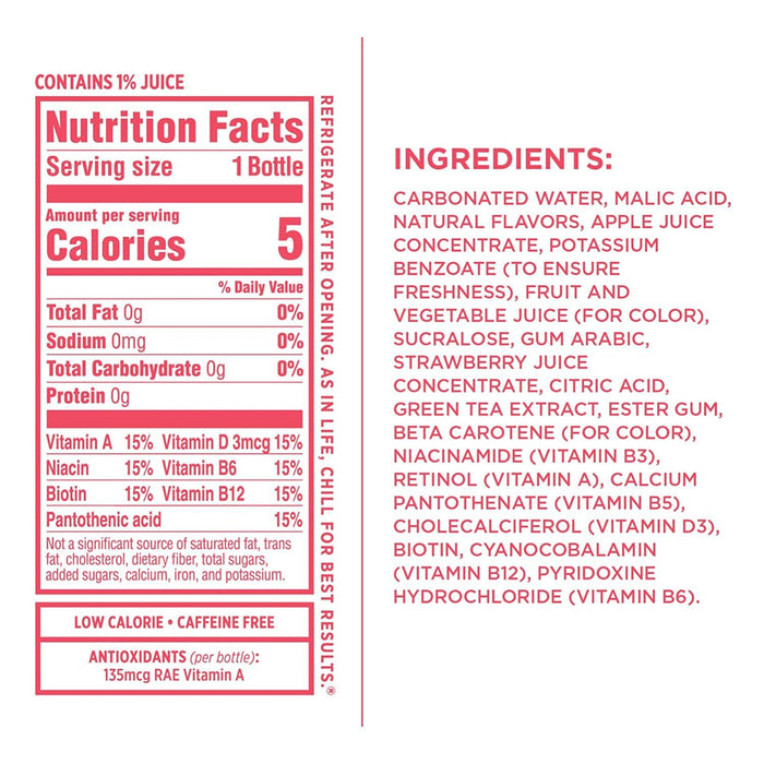 Sparkling Ice, Strawberry Watermelon Sparkling Water, with antioxidants and vitamins, Zero Sugar, 17 FL OZ Bottles (Pack of 12) - iregali