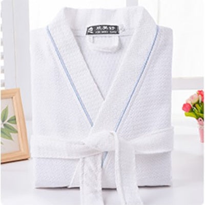 Men Solid Color Full Sleeve 100% Cotton Sleep Lounge Robes Mens Long Dressing Gown Kimono Robes Male Bathrobes Man - iregali