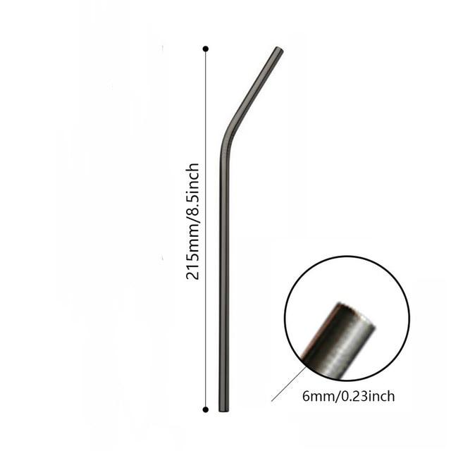 Stainless Steel Straws Telescopic Drinking Metal Straw Collapsible Reusable Straws Portable Drinkware With Case Brush & Keychain - iregalijoy.com