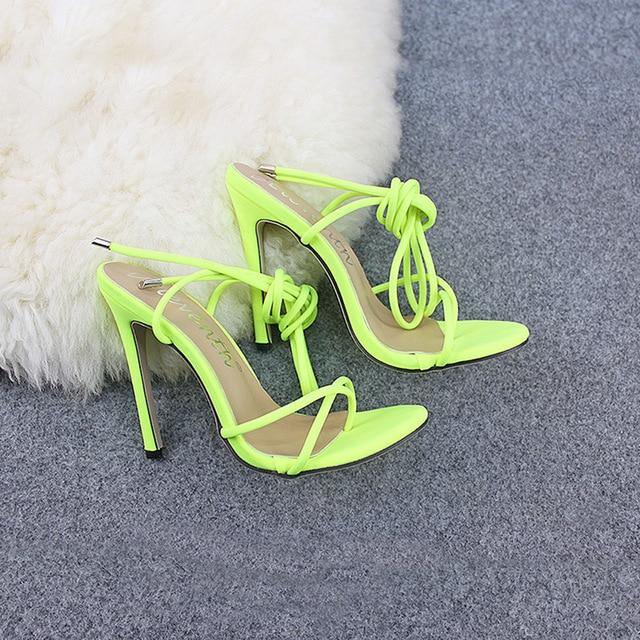 Super High 5 inch Thin Heels Women Pumps Ankle Cross Strap dress Shoes - iregalijoy.com