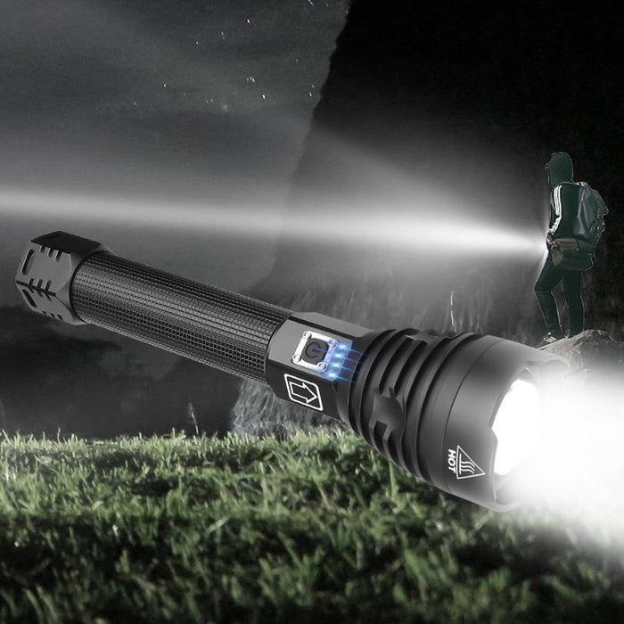 Super Powerful Xlamp XHP70.2 XHP90 LED Flashlight LED Torch USB XHP50 Lamp Zoom Tactical Torch 18650 26650 Rechargeable Battey - iregali