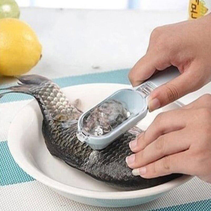 Super Practical Fish Flaker Fish with cover essential kitchen scales easily brush cutter scraping avoid flying over scales - iregalijoy.com