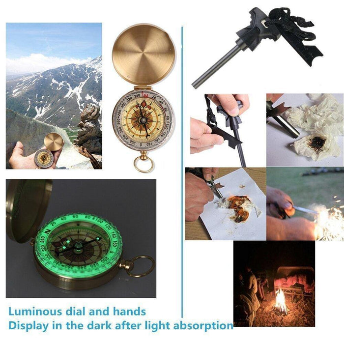 Survival Gear Kits 13 in 1- Outdoor Emergency SOS Survive Tool for Wilderness/Trip/Cars/Hiking/Camping gear - iregalijoy.com