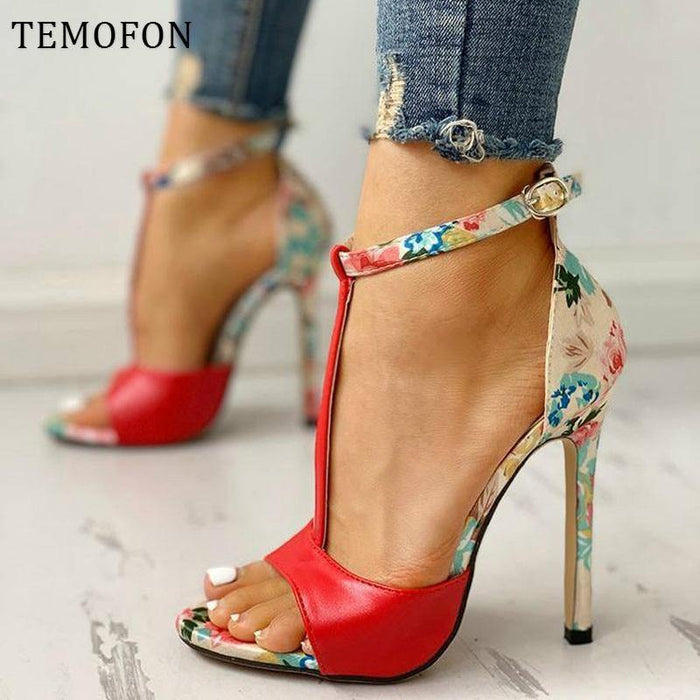 sexy women high heels with ankle strap peep toe pumps ladies high heels sandals summer shoes - iregalijoy.com
