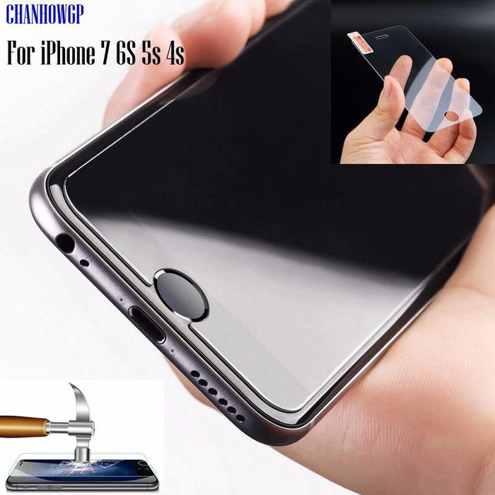Top Tempered Glass Screen Protector Funda For iPhone 11 Pro X XS Max XR 8 7 6 6S Plus SE 4S 5 5S 5C 10 Cover Protective Film - iregalijoy.com