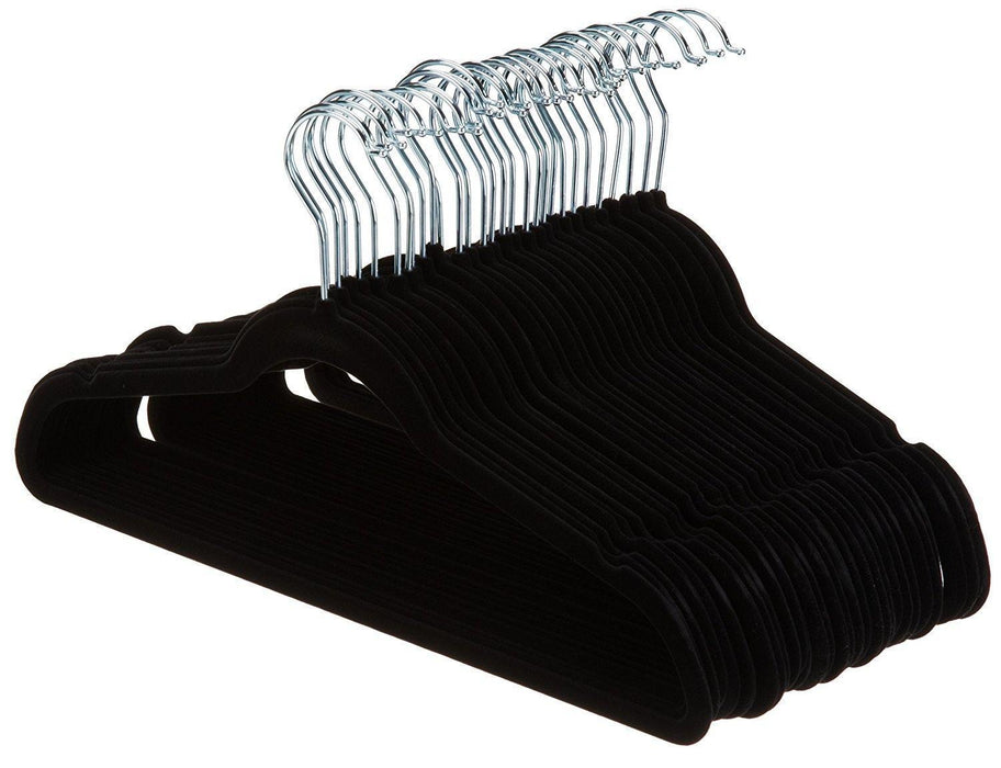 Velvet Suit Hangers - 30-Pack, Black - iregalijoy.com