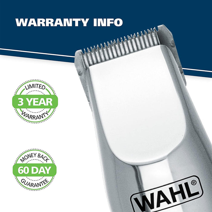 WAHL 5622 Groomsman Rechargeable Beard, Mustache, Hair & Nose Hair Trimmer for Detailing & Grooming, Black - Iregalijoy.com