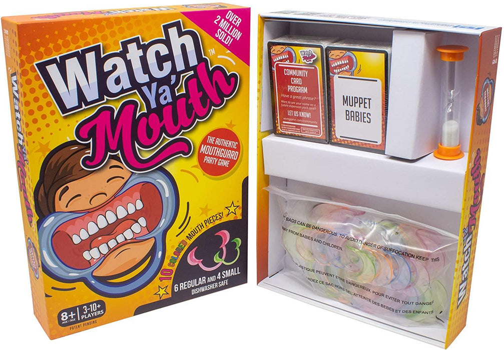 Watch Ya' Mouth Family Edition - The Authentic, Hilarious, Mouthguard Party Game - iregalijoy.com