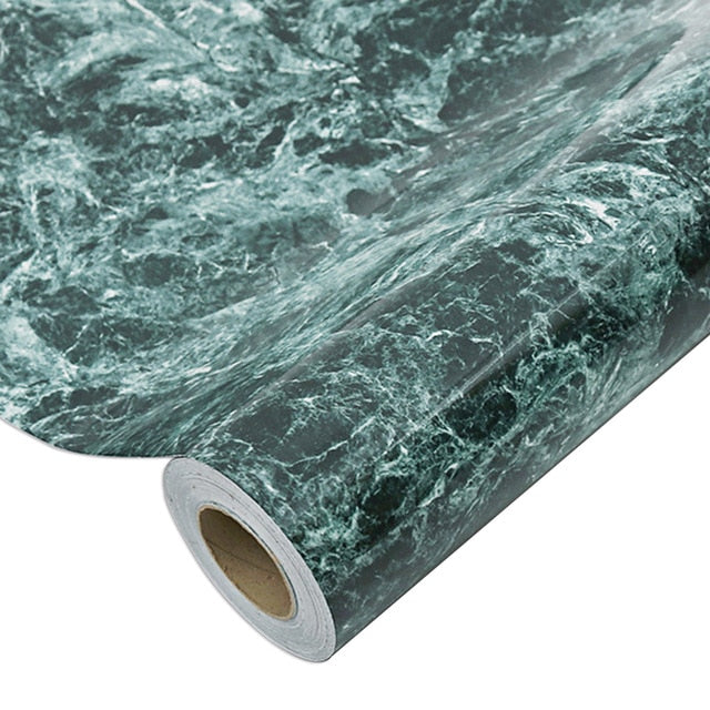 Waterproof Oil-proof Marble Wallpaper Contact Paper Wall Stickers PVC Self Adhesive Bathroom Kitchen Countertop Home Improvement - iregalijoy.com