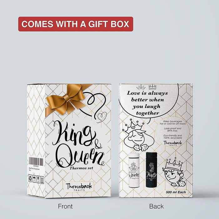 Wedding Gifts, Couple Gifts, King And Queen Thermo Set Gift - iregalijoy.com