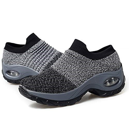 Women's Walking Shoes Sock Sneakers - Mesh Slip On Air Cushion Lady Girls Modern - iregalijoy.com