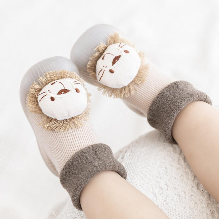 baby sock shoes for winter thick cotton animal styles cute baby floor shoes anti-slip first walkers 0-3 years - Iregalijoy.com