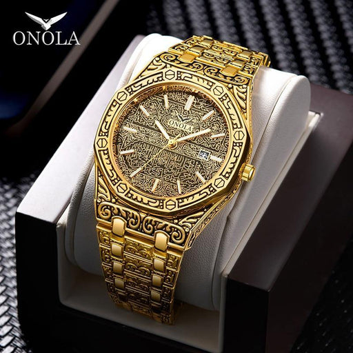 fashion watch men Brand  new luxury classic designer stainless steel band gold watches for men reloj hombre - iregalijoy.com