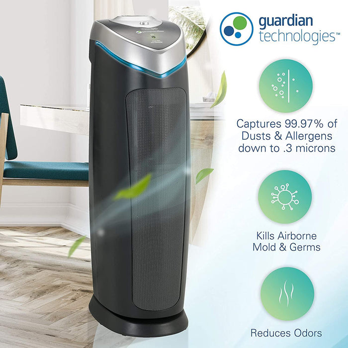 Germ Guardian True HEPA Filter Air Purifier with UV Light Sanitizer, Eliminates Germs, Filters Allergies, Pollen, Smoke, Dust Pet Dander, Mold Odors - iregali
