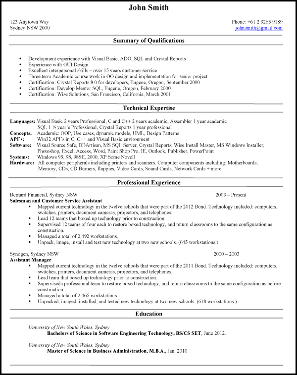 resume in usa format best of example application examples resumes