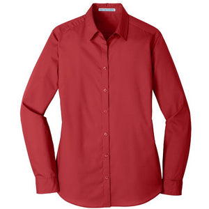 Ladies' Port Authority <br>Carefree Poplin Shirt