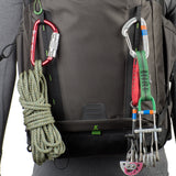 Daisy chain, ice axe loops and additional lash points for expanding your carry capacity
