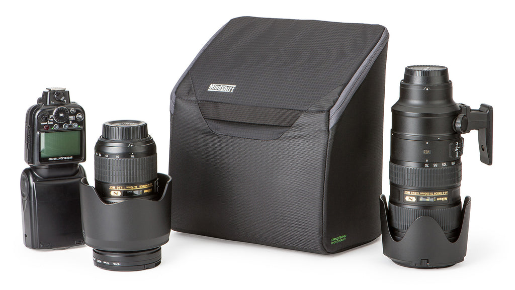 Various configurations include 2-4 lenses including the 70-200mm + a strobe.
