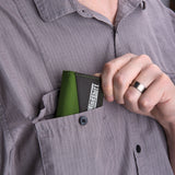 Slim design fits easily in your pocket
